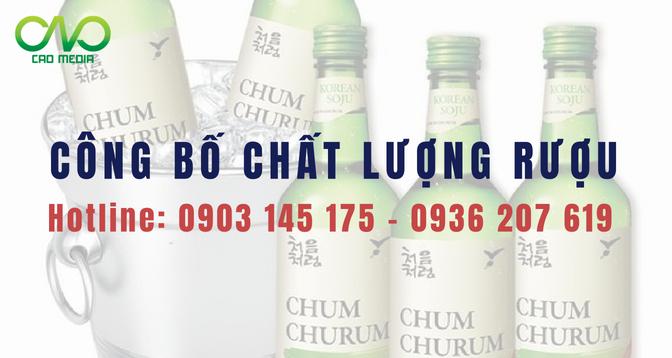 Tư vấn dịch vụ Công bố tiêu chuẩn chất lượng sản phẩm rượu soju nhập khẩu