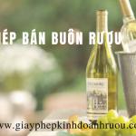 Thủ tục xin giấy phép bán kinh doanh bán buôn rượu như thế nào?