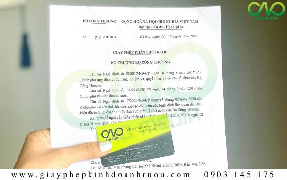 Dịch vụ xin giấy phép phân phối rượu tại Quận 12 - TP. Hồ Chí Minh