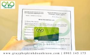 Tư vấn xin giấy chứng nhận Health Certificate rượu mít