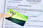 Thủ tục xin giấy chứng nhận Health Certificate rượu hồng sâm