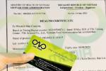 Giấy chứng nhận Health Certificate bánh bao nhân sữa dừa