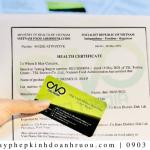 Xin giấy chứng nhận Health Certificate rượu chuối xuất khẩu