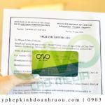 Dịch vụ xin giấy chứng nhận Health Certificate rượu nho UY TÍN